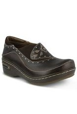 Burbank Brown Leather Clog