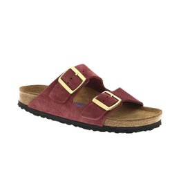 Birkenstock Arizona Soft Footbed Burgandy Suede Sandal
