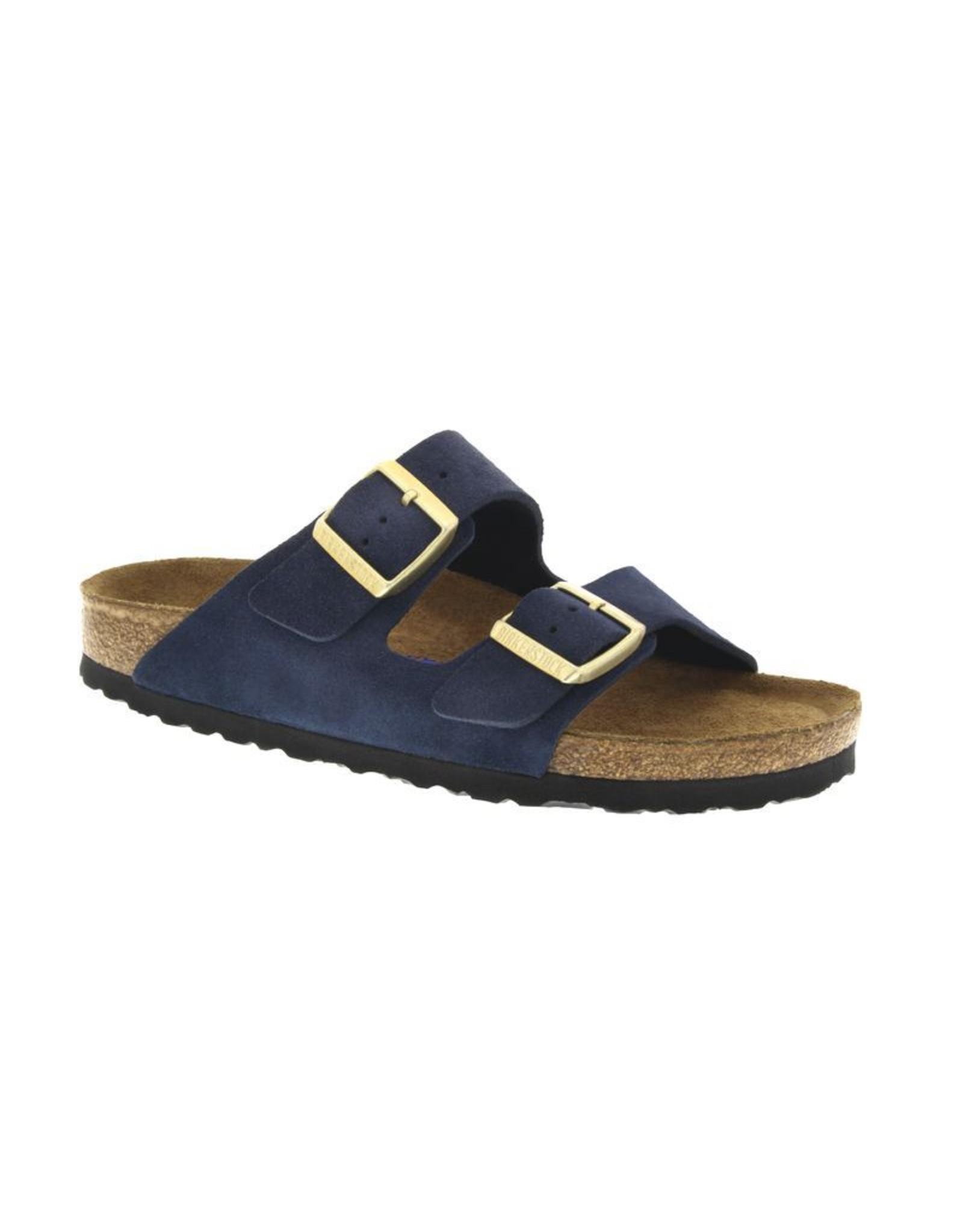 Birkenstock Arizona Soft Footbed Navy Suede Sandal