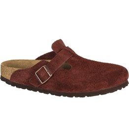 Birkenstock Port Suede Boston Clog Soft Footbed