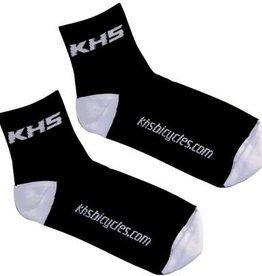KHS - FREE AGENT KHS SOCK, BLACK w/WHT LOGO