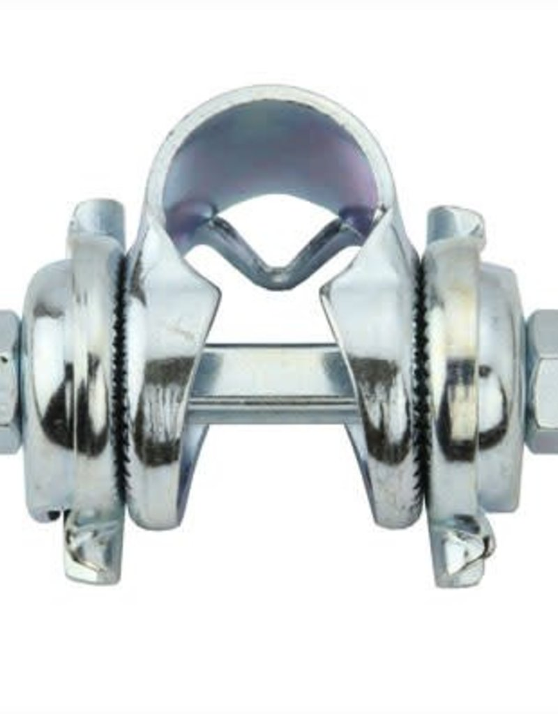 F&R Cycle Inc Saddle Clamp Single Rail Chrome