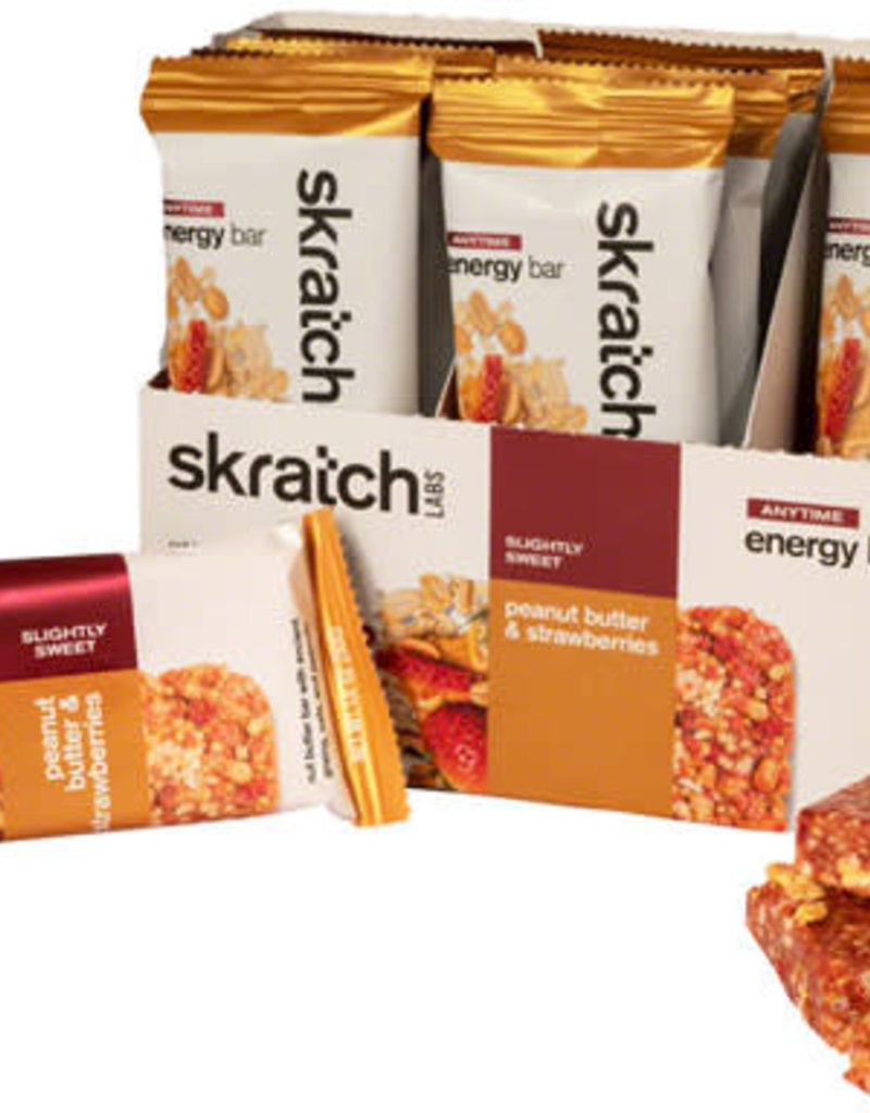 Skratch Labs Copy of Skratch Labs Anytime Energy Bar: Peanut Butter and Strawberries, Box of 12