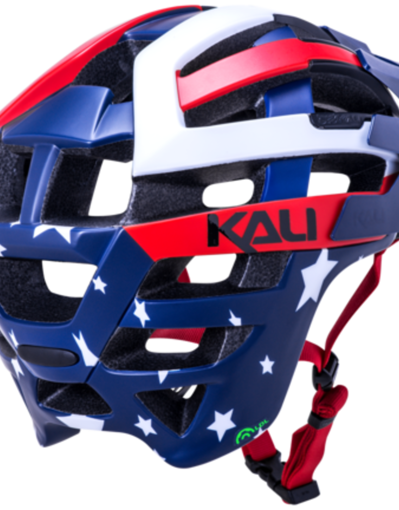Kali Protectives KALI,INTERCEPTOR,PATRIOT,S/M MATTE RED/WHITE/BLUE