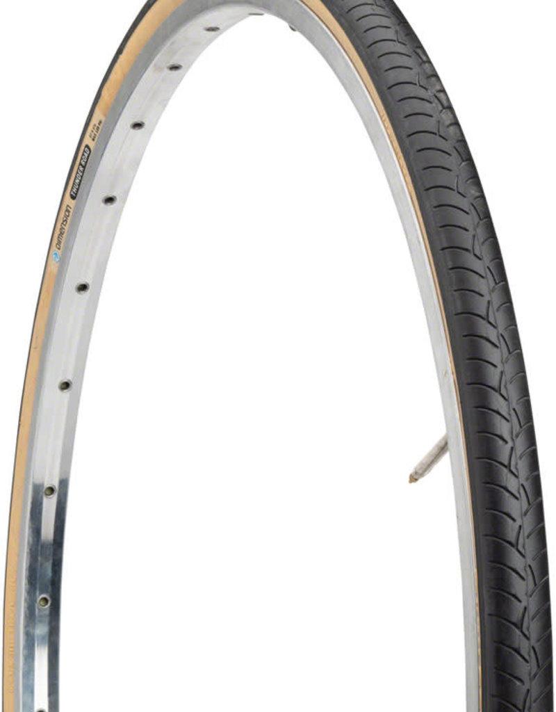 Dimension Dimension Thunder Road Tire - 27 x 1-1/4, Clincher, Wire, Black/Tan, 33tpi