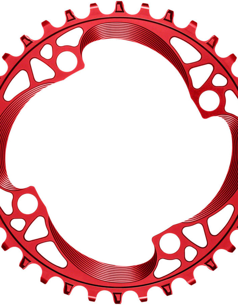 absoluteBLACK absoluteBLACK Round 104 BCD Chainring - 36t, 104 BCD, 4-Bolt, Narrow-Wide, Red