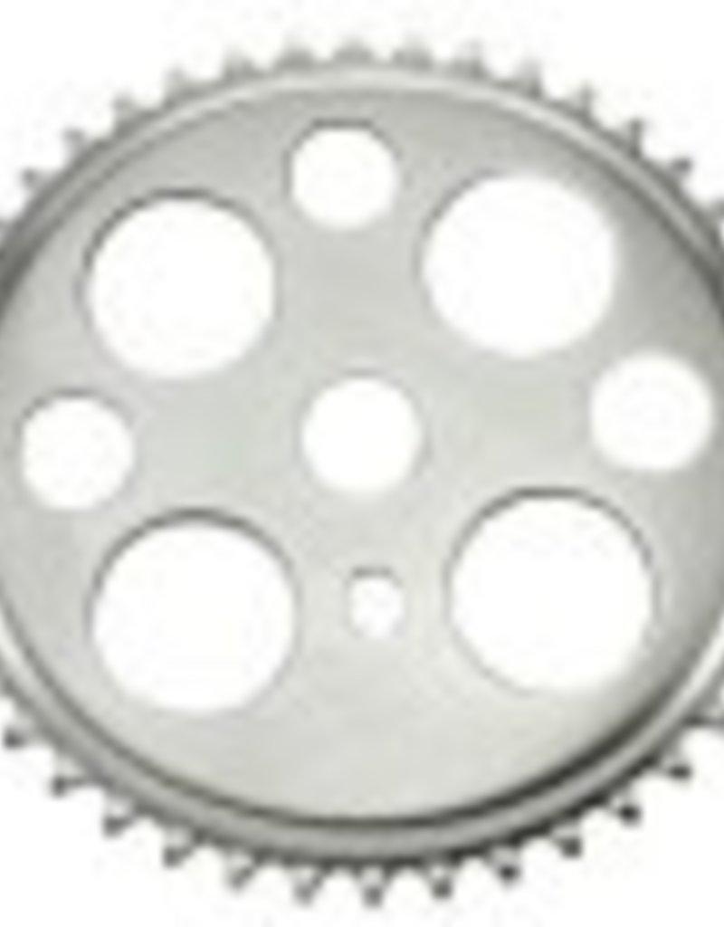 F&R Cycle Inc Lucky 7 Steel Sprocket 1/2 X 1/8 44t Chrome