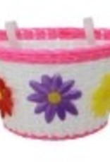 F&R Cycle Inc Girls Woven Basket Pink/White