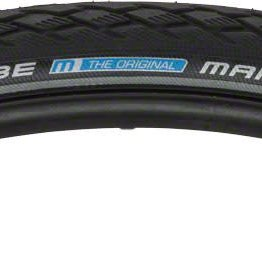 Schwalbe Schwalbe Marathon Tire, 700x35 Wire Bead Black with Reflective Sidewall and GreenGuard Protection