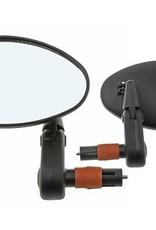 F&R Cycle Inc 3D Mirror Bar End 2002SB Black