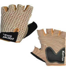 KHS P-BIKE GLOVE,TAURUS MEDIUM TAN/BLK,CROCHET LEATHER GLOVE