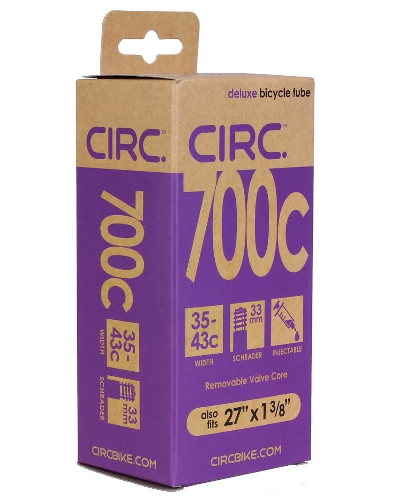 "CIRC Circ Deluxe tube, 700x35-43c+27x1-3/8"", SV, each"