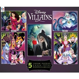 Ceaco Puzzle - Disney - Villains Multi-Pack of 5 300-750 pieces