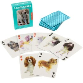 Kikkerland Playing Cards - Dog 3D
