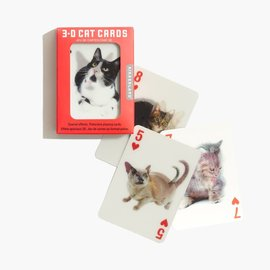 Kikkerland Playing Cards - Cats 3D