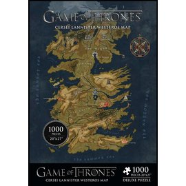 Other Casse-tête - Game of Thrones - Cersei Lannister Westeros Carte Deluxe 1000 pièces