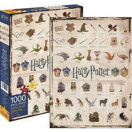 Aquarius Puzzle - Harry Potter - Wizarding World Lore Icons 1000 pieces