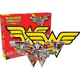 Aquarius Puzzle - DC Comics - Wonder Woman 2 in 1 Shaped 600 pieces