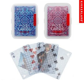 Kikkerland Playing Cards - Clear - Pixel