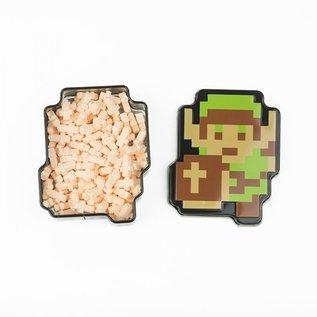 Boston America Corp Bonbons - The Legend of Zelda - 8 Bit Link avec Épée Orange Acidulée Boîte en métal