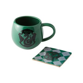 Our Name is Mud Mug - Harry Potter - Slytherin Crest Gift Set Mug 12oz and Coaster