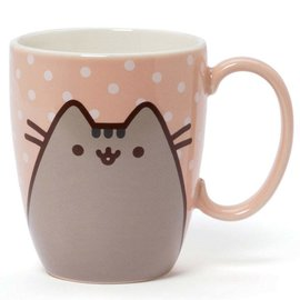 Our Name is Mud Tasse - Pusheen - Pêche Pastel avec Petits Points 12oz
