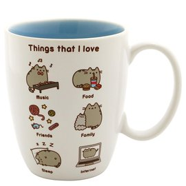 Our Name is Mud Mug - Pusheen - Things that I Love White 12oz