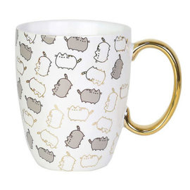Our Name is Mud Tasse - Pusheen - Blanche avec Accents Dorés Brillants 12oz