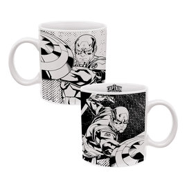 Vandor Mug - Marvel - Avengers Captain America Black and White 20oz