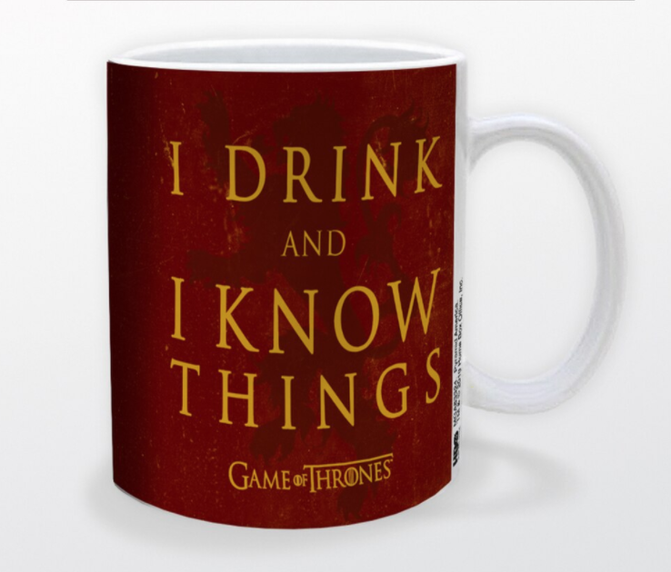 I Drink /& I Know Things Flasque Game of Thrones