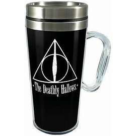Spoontiques Travel Mug - Harry Potter - Deathly Hallows Insulating with Handle 16oz
