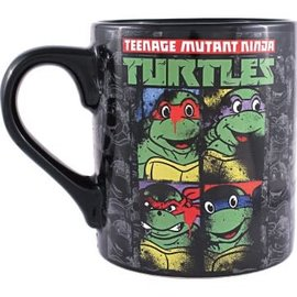 Silver Buffalo Mug - Teenage Mutant Ninja Turtles - Group Graffiti Black 12oz