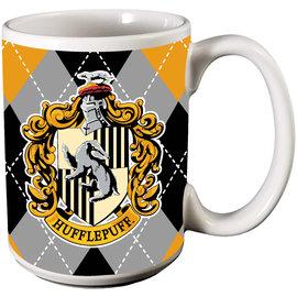 Spoontiques Tasse - Harry Potter - Maison Poufsouffle sur Fond Carrauté 12oz
