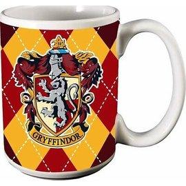 Spoontiques Tasse - Harry Potter - Maison Gryffondor Carrautée Rouge et Jaune 12oz