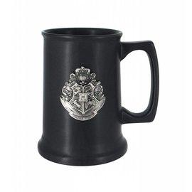 Monogram Tasse - Harry Potter - Chope en Céramique Noire et Blason de Poudlard en Étain Deluxe 28oz