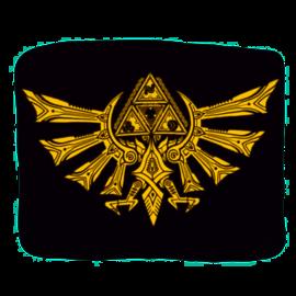 Bioworld Blanket - The Legend of Zelda - Logo Triforce Gold Fleece Throw