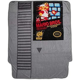 Bioworld Blanket - Nintendo - Super Mario Bros. Game Cartridge Fleece Throw