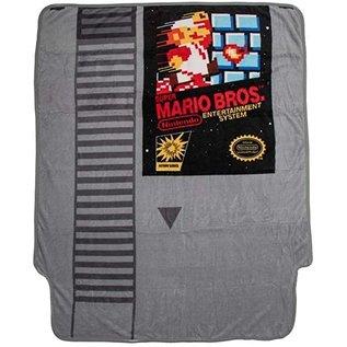 Bioworld Couverture - Nintendo - Cassette Super Mario Bros. Jeté en Peluche