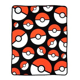Bioworld Blanket - Pokémon - Poké Balls Fleece Throw