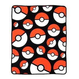 Bioworld Blanket - Pokémon - Poké Balls Fleece Throw