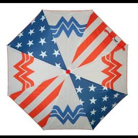 Bioworld Parapluie - DC Comics - Wonder Woman Blanc et Étoiles avec Logo