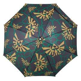 Bioworld Umbrella - The Legend of  Zelda - Black with Gold Hyrule Crest with LED Light