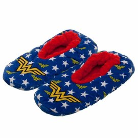 Bioworld Slippers - DC Comics - Wonder Woman Embroidered Golden Logo