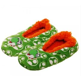 Bioworld Slippers - Nintendo - Super Mario Embroidered Yoshi