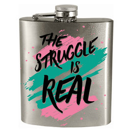 Spoontiques Flask - Generic - The Struggle is Real 7oz