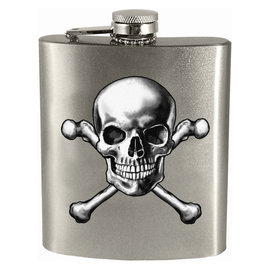 Spoontiques Flask - Generic - Skull's Crossing 7oz