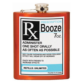 Spoontiques Flask - Generic - Prescription RX Booze 7oz