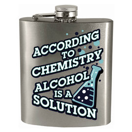 Spoontiques Flask - Generic - Alcohol is a Solution 7oz