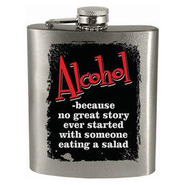 Spoontiques Flasque - Générique - Alcohol: No Great Story Starts With Salad 7oz
