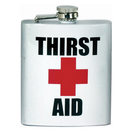 Spoontiques Flask - Generic - Thirst Aid 7oz